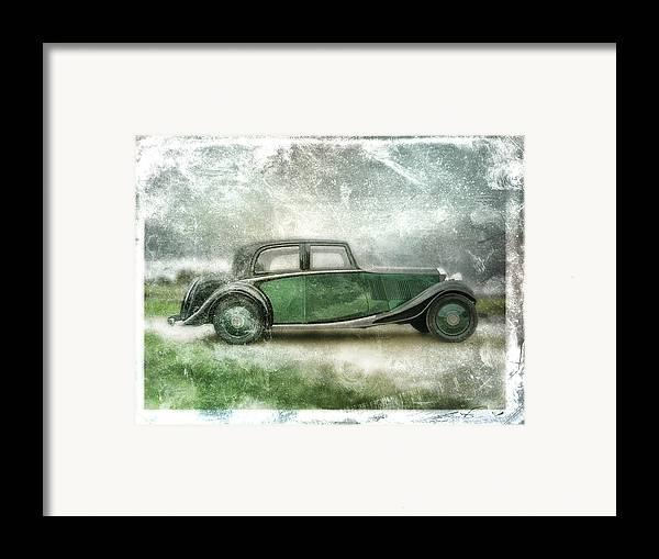 Vintage Framed Print featuring the digital art Vintage Rolls Royce by David Ridley