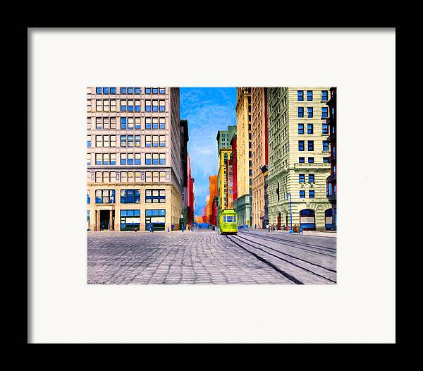 Vintage Framed Print featuring the photograph Vintage View Of New York City - Union Square by Mark E Tisdale
