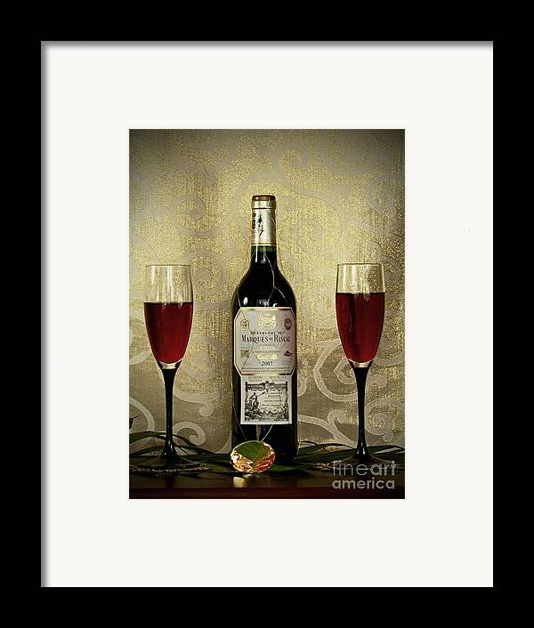 Vintage Wine Lovers Framed Print featuring the photograph Vintage Wine Lovers by Inspired Nature Photography Fine Art Photography