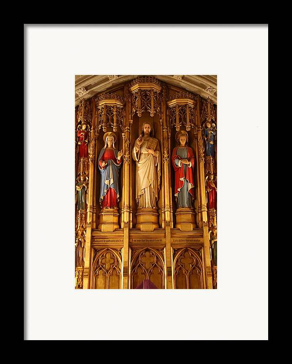 Alter Framed Print featuring the photograph Washington National Cathedral - Washington Dc - 011321 by DC Photographer