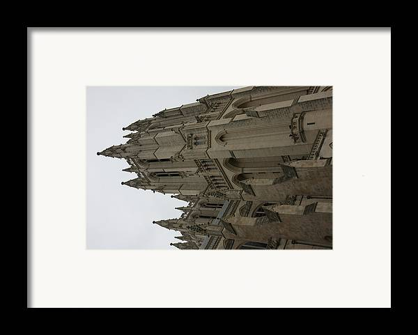 Alter Framed Print featuring the photograph Washington National Cathedral - Washington Dc - 011357 by DC Photographer
