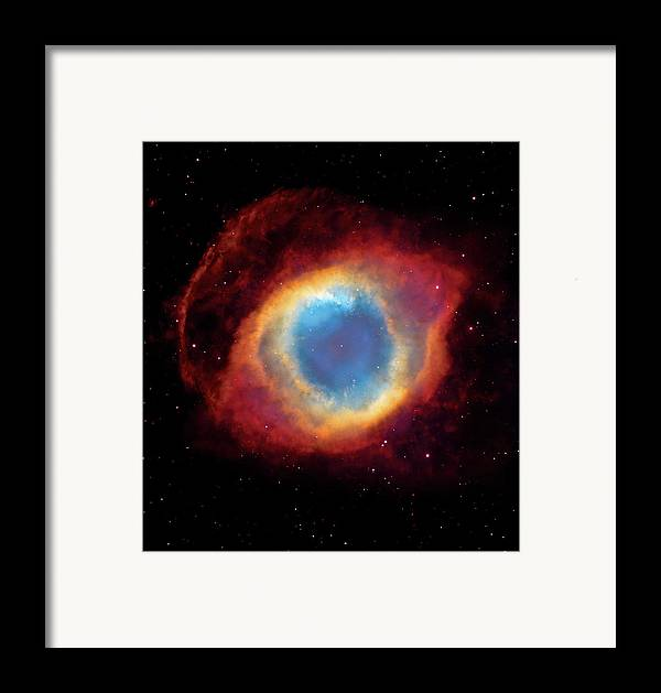 Universe Framed Print featuring the photograph Watching - Helix Nebula by Jennifer Rondinelli Reilly - Fine Art Photography