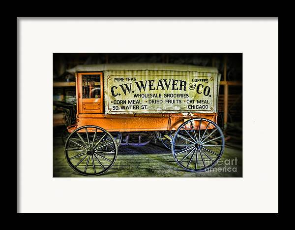 Paul Ward Framed Print featuring the photograph Water St. - Chicago - The Salesman by Paul Ward