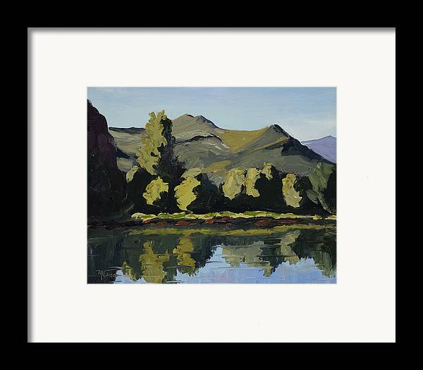 Plein Air Framed Print featuring the painting Watson Lake by Mary Giacomini