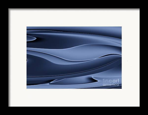 Abstract Framed Print featuring the photograph Wave Art Vi by Ludek Sagi Lukac
