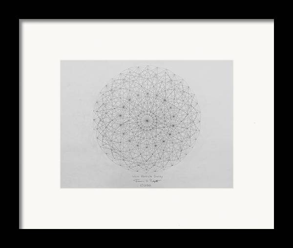 Wave Framed Print featuring the drawing Wave Particle Duality Original by Jason Padgett