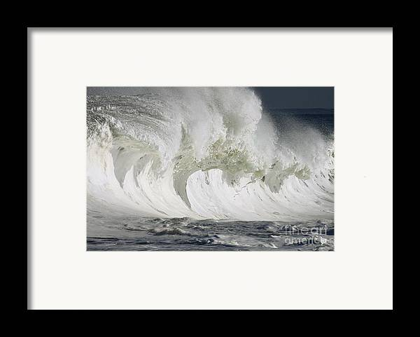 Beautiful Framed Print featuring the photograph Wave Whitewash by Vince Cavataio
