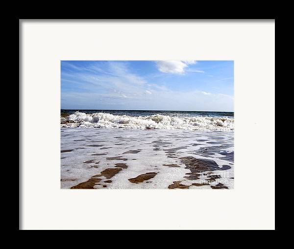 Waves Framed Print featuring the photograph Waves by Ramona Matei