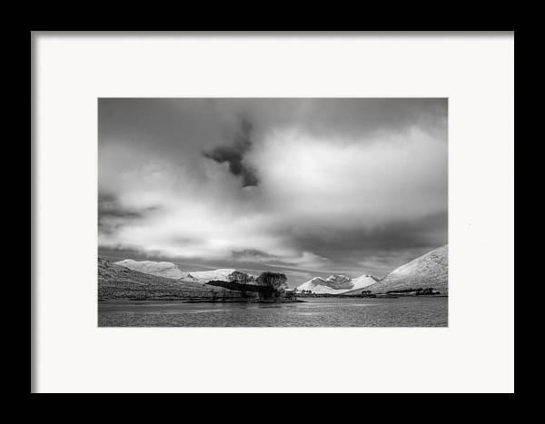 Fannaichs Framed Print featuring the photograph Wester Ross Winter by Derek Beattie