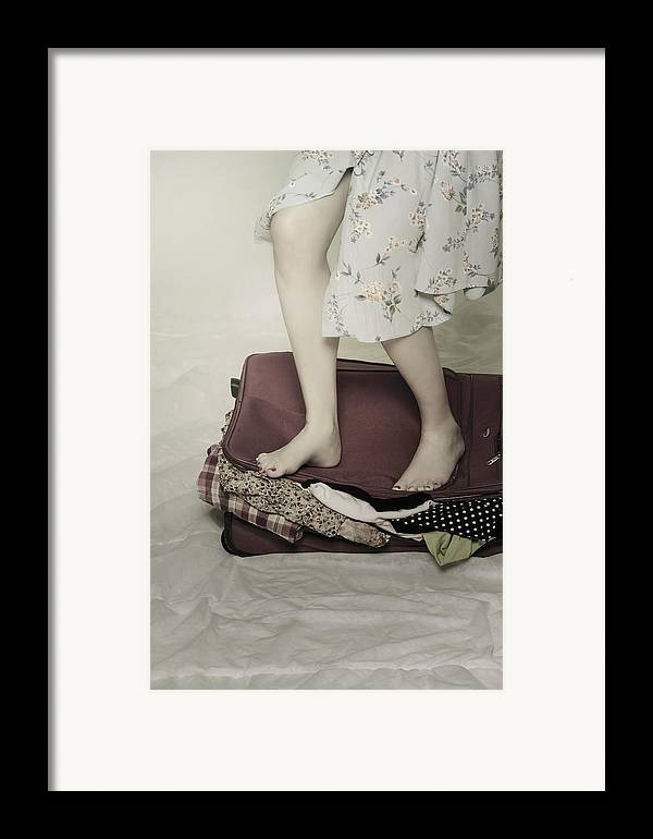 Woman Framed Print featuring the photograph When A Woman Travels by Joana Kruse