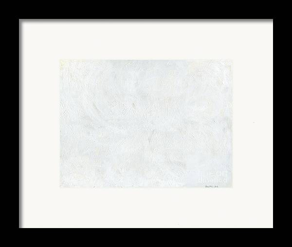 White Framed Print featuring the painting White Color Of Energy by Ania Milo