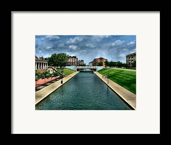 White River Framed Print featuring the photograph White River Park Canal In Indy by Julie Dant