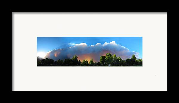 Colorado Framed Print featuring the photograph Wildfire Coming by Ric Soulen