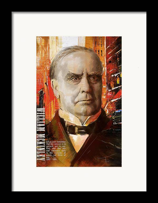 William Mckinley Framed Print featuring the painting William Mckinley by Corporate Art Task Force