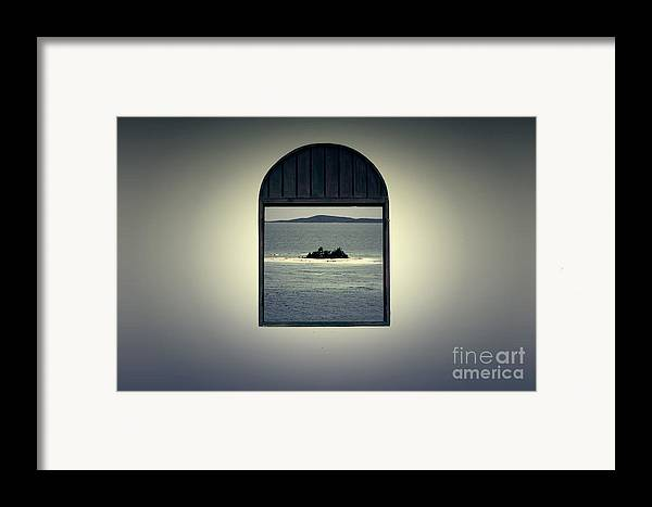 Puerto Rico Framed Print featuring the digital art Window View Of Desert Island Puerto Rico Prints Lomography by Shawn O'Brien