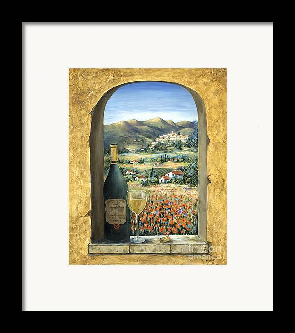 Wine Framed Print featuring the painting Wine And Poppies by Marilyn Dunlap