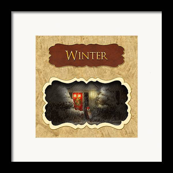 Winter Framed Print featuring the photograph Winter Button by Mike Savad