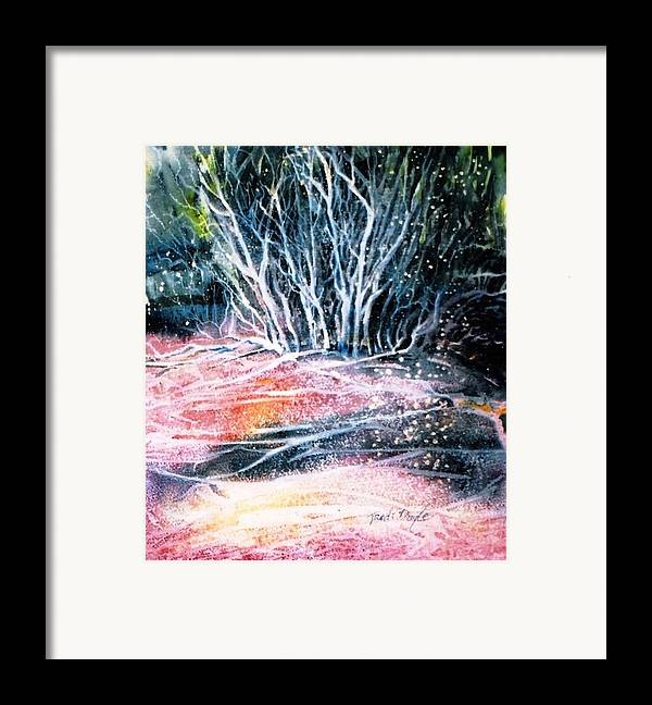 Winter Framed Print featuring the painting Winter Habitat No.1 by Trudi Doyle