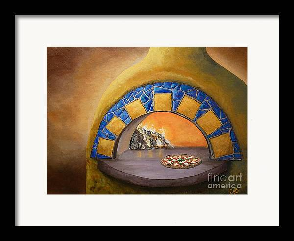 Pizza Framed Print featuring the painting Wood Fired by Chad Berglund