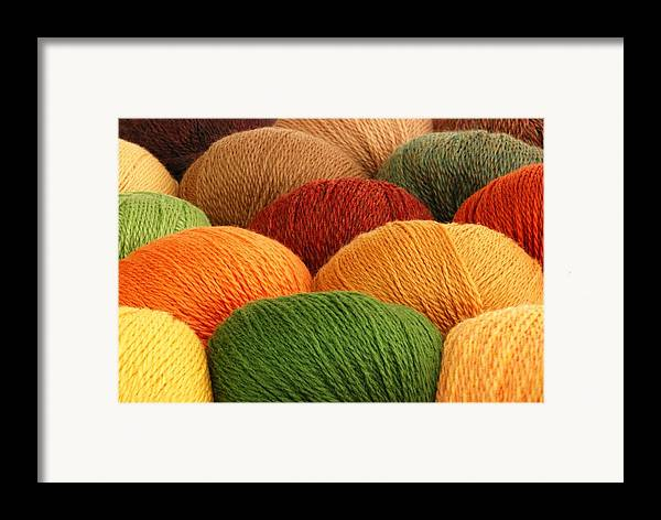 Yarn Framed Print featuring the photograph Wool Yarn by Jim Hughes