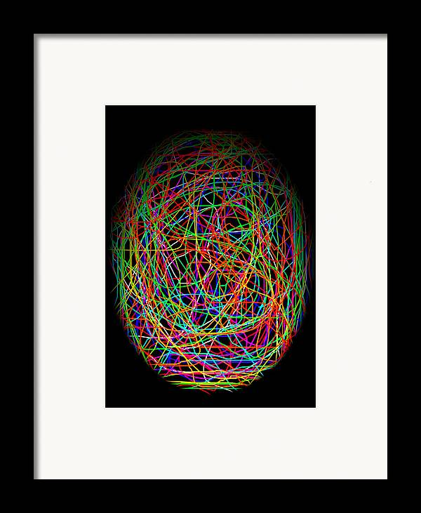 Abstract Framed Print featuring the photograph World Web by Aidan Moran