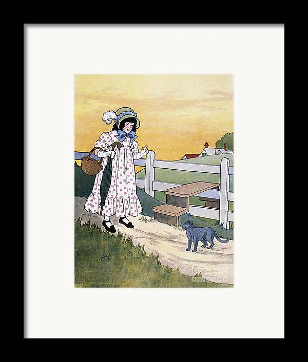 1916 Framed Print featuring the photograph Wright: Pussy Cat by Granger