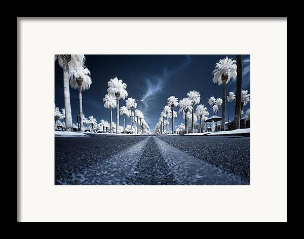 Infrared Framed Print featuring the photograph X by Sean Foster
