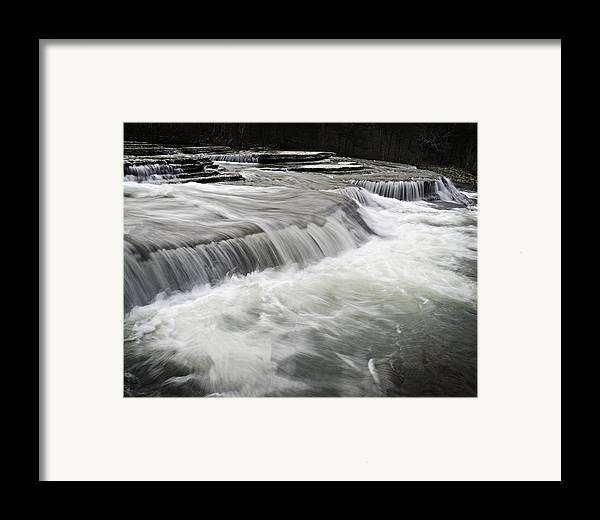 Arkansas Framed Print featuring the photograph 0804-0113 Six Finger Falls 2 by Randy Forrester