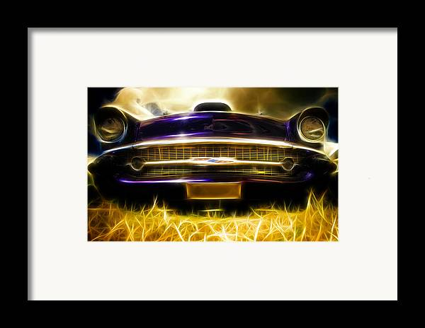 Chevrolet Framed Print featuring the photograph 1957 Chevrolet Bel Air by Phil 'motography' Clark