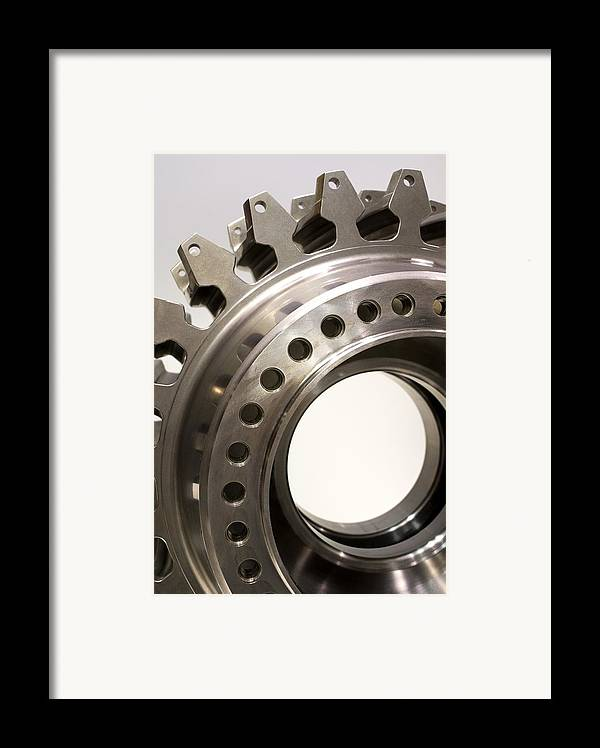 Aerospace Framed Print featuring the photograph Aircraft Engine Component by Mark Williamson