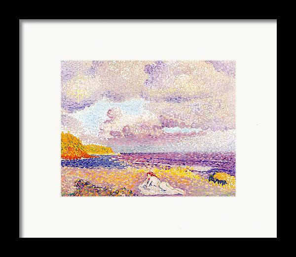 An Incoming Storm Framed Print featuring the painting An Incoming Storm by Henri-Edmond Cross
