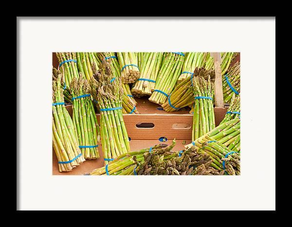 Asparagus Framed Print featuring the photograph Asparagus by Tom Gowanlock