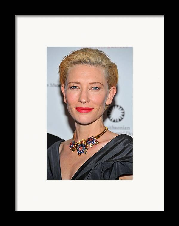 Cate Blanchett Framed Print featuring the photograph Cate Blanchett Wearing A Van Cleef & by Everett
