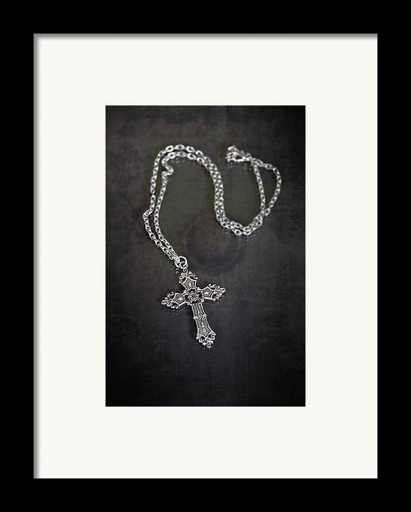 Necklace Framed Print featuring the photograph Celtic Cross by Joana Kruse