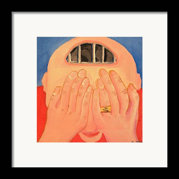 Depression Framed Print featuring the painting Depression by Darren Stein