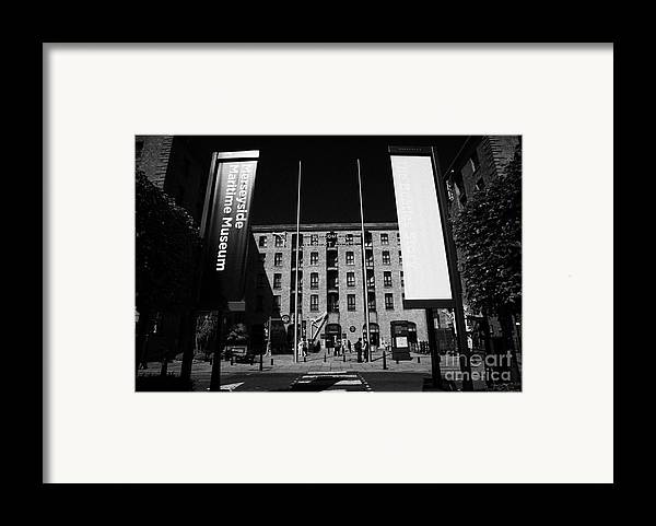 Albert Framed Print featuring the photograph Entrance To The Albert Dock And Beatles Museum Liverpool Merseyside England Uk by Joe Fox