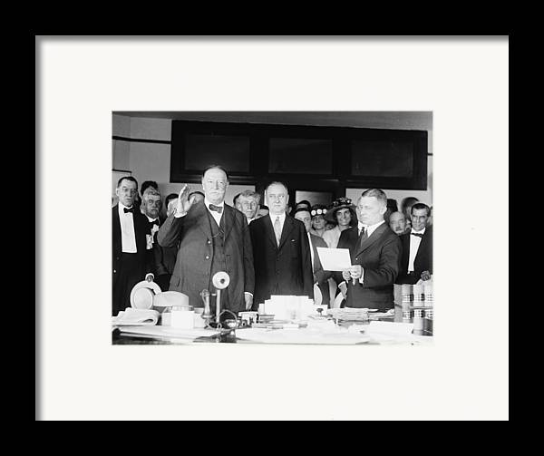 Us Presidents Framed Print featuring the photograph Ex-president William Howard Taft by Everett