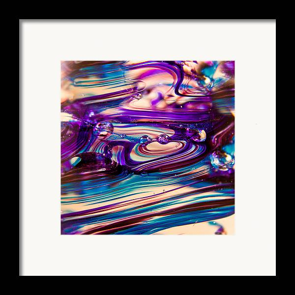 Digital Art Framed Print featuring the photograph Glass Macro II by David Patterson