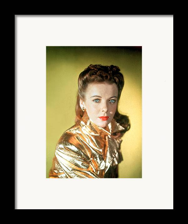 1940s Framed Print featuring the photograph Ida Lupino by Everett