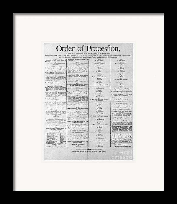 Government Framed Print featuring the photograph Parade For The Us Constitution by Photo Researchers