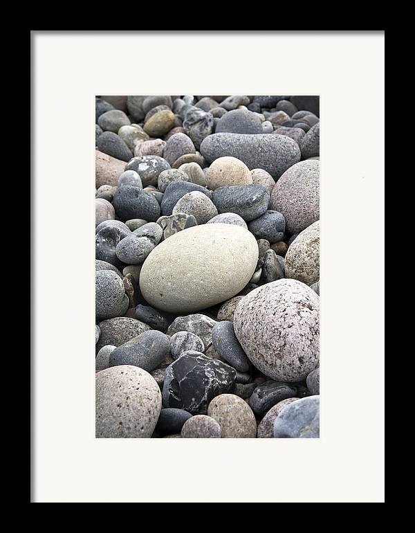 Pebbles Framed Print featuring the photograph Pebbles by Frank Tschakert