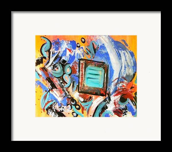Modern Art Framed Print featuring the painting Pizazz by Katina Cote