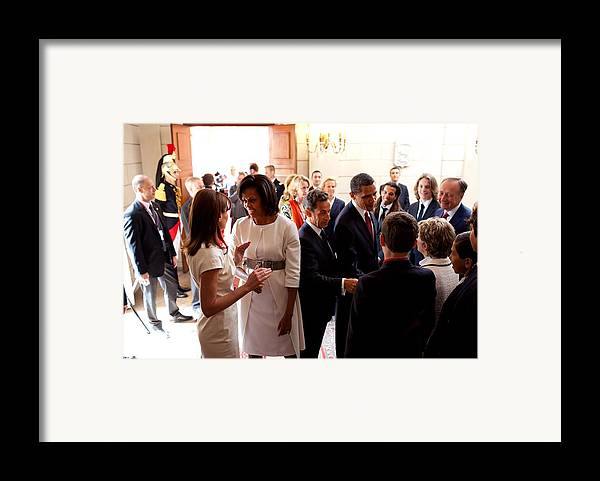 History Framed Print featuring the photograph President Obama And French President by Everett