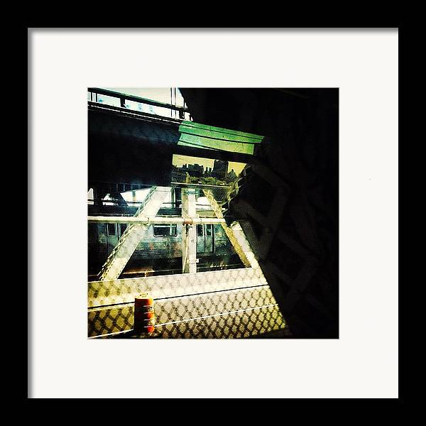 Bridge Framed Print featuring the photograph Reflection On The Q by Natasha Marco