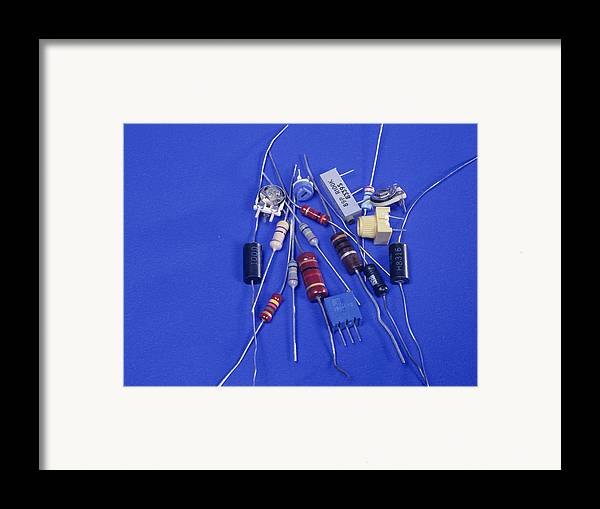 Component Framed Print featuring the photograph Resistors by Andrew Lambert Photography