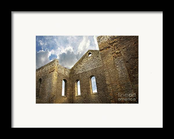 Architecture Framed Print featuring the photograph Ruins Of A Church In South Glengarry by Sandra Cunningham