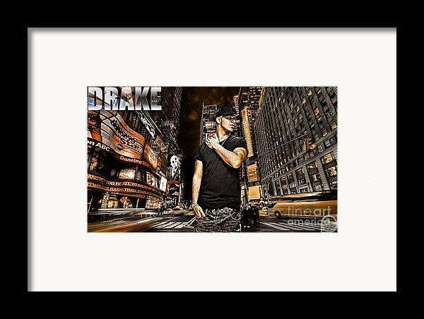 Drake Framed Print featuring the digital art Street Phenomenon Drake by The DigArtisT