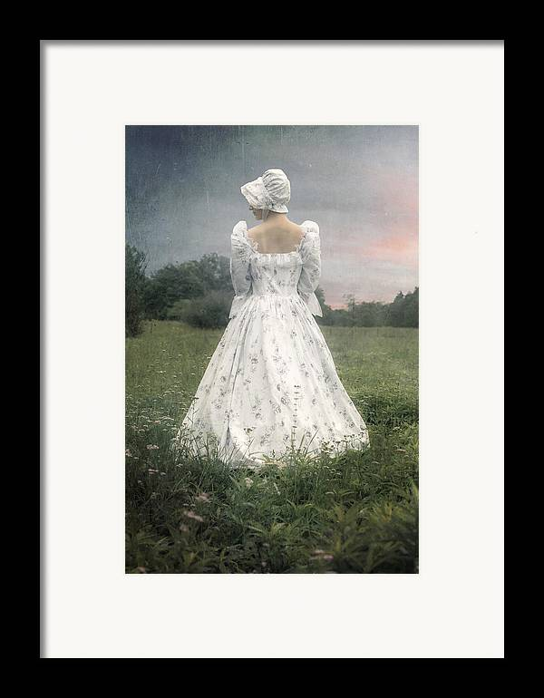 Woman Framed Print featuring the photograph Woman With Bonnet by Joana Kruse