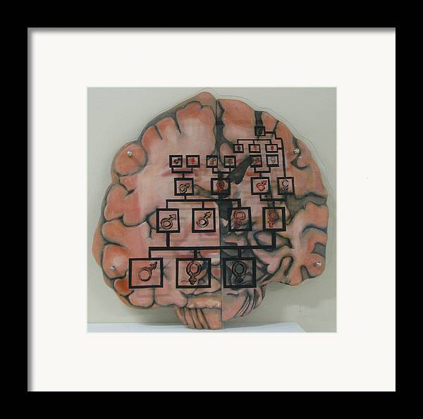 Your Brain On Alzheimer's Framed Print by Art Nomad Sandra  Hansen