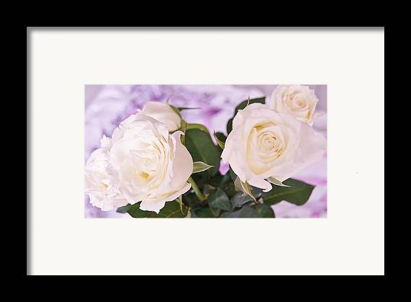 Framed Print featuring the photograph Roses For You by Gornganogphatchara Kalapun